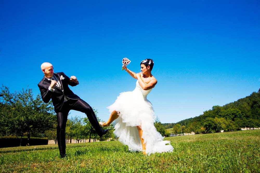 Brautpaar in Kampfstellung