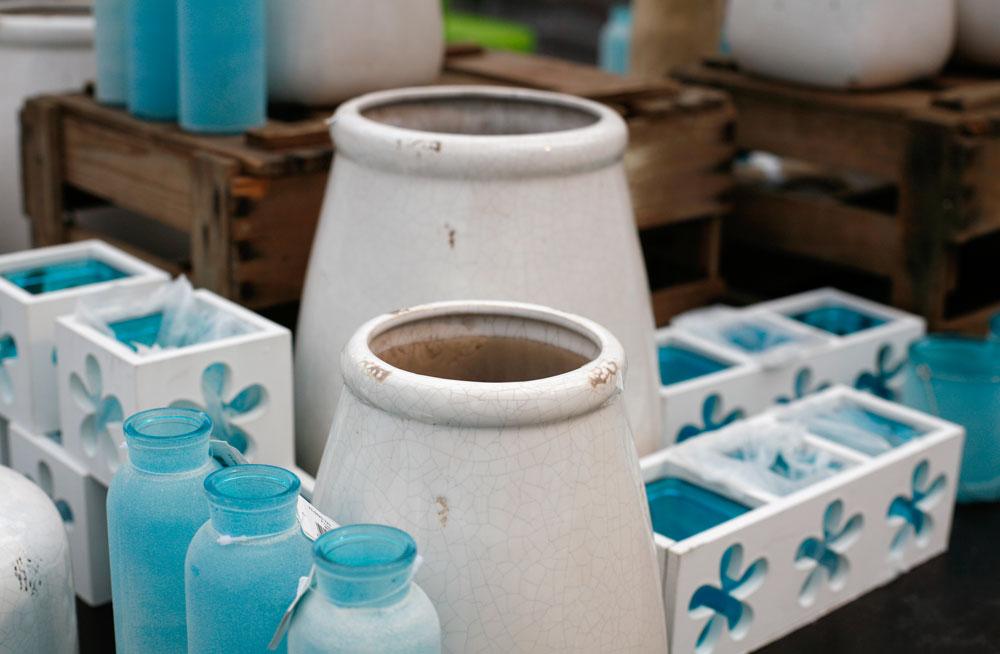 Dekoartikel Vasen und Teelichtgläser