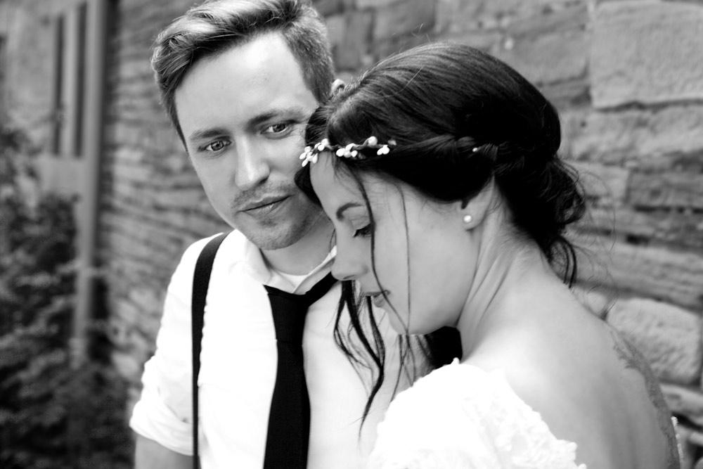 Hochzeitspaar schwarz-weiss