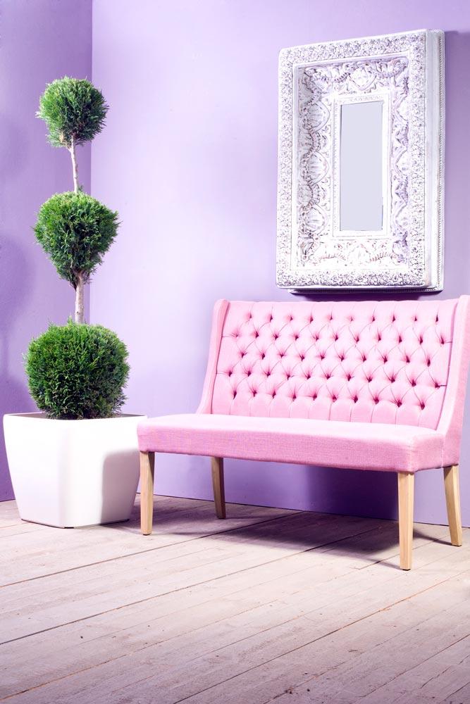 Stylische Sitzbank pink